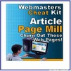 Thumbnail Article Page Mill (MRR) - Rapidly Build Web Pages