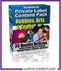 Thumbnail Private Label Content Pack Hobbies, Arts & Crafts