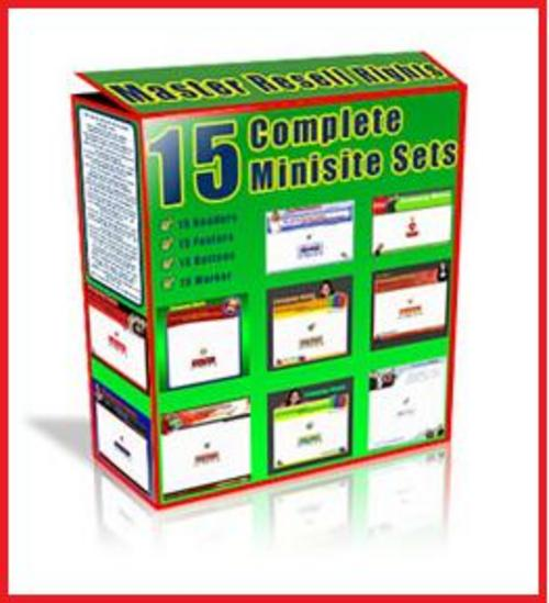 Product picture 15 Complete MiniSites Sets (MRR)