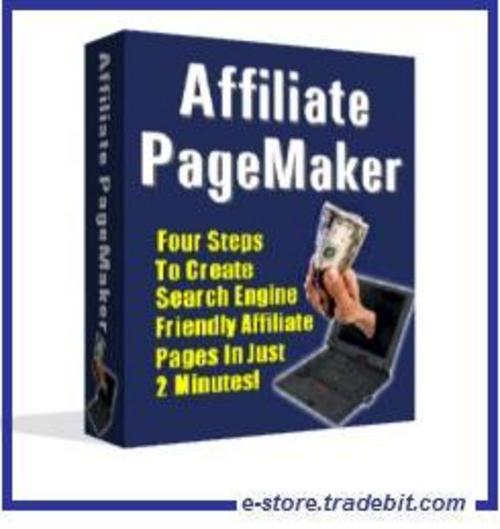 Product picture Affiliate PageMaker - Promote affiliate programs