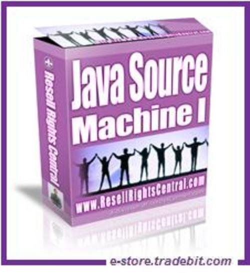 Product picture Java Source Machine 1- Generate 15 Customized JavaScripts