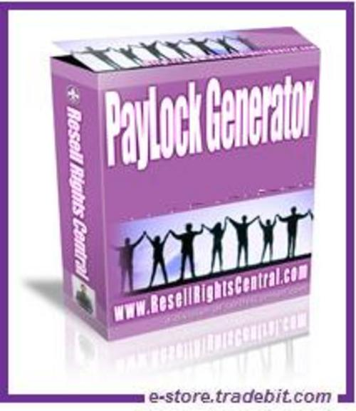 Product picture PayLock Generator - Generates Secure PayPal Buttons