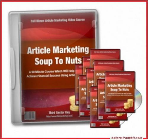 Product picture Article Marketing Soup To Nuts (MRR) - Tutorial Videos