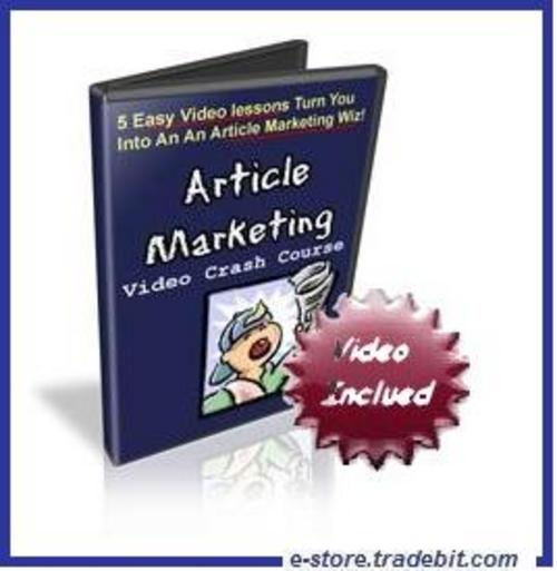 Product picture Article Marketing Video Crash Course - Video lessons Included
