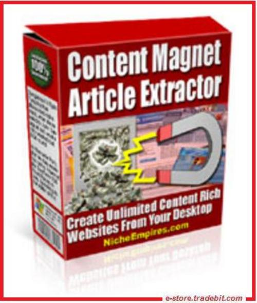 Product picture Content Magnet Article Extractor (MRR)
