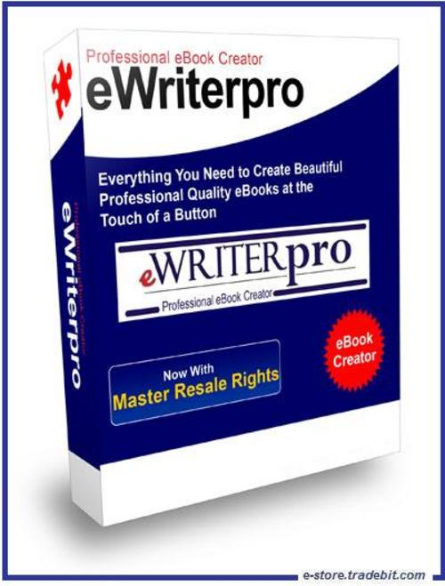 Product picture  eWriterPro (MRR) - Create Edit Ebook