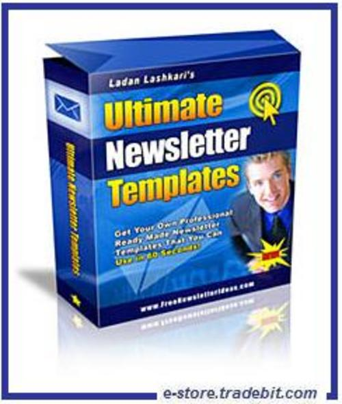 Product picture Ultimate Newsletter Template (MRR)