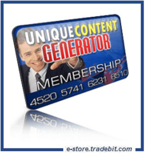 Product picture Unique Content Generator PRO - Membership Script Automates